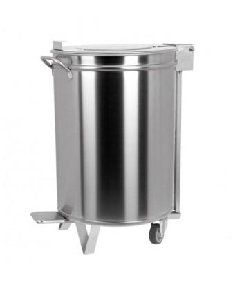 Poubelle inox 95 litres à...