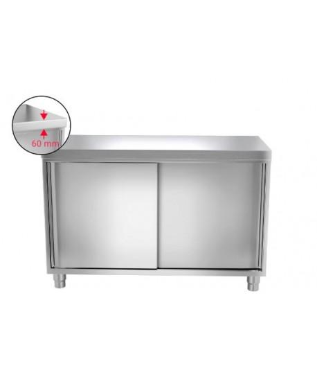 Meuble Armoire Table De Travail Inox Porte Coulissante 1 0 M