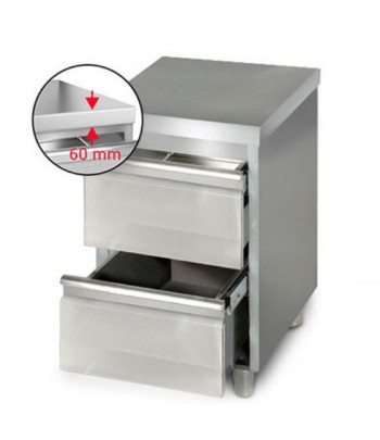 Table de 2 tiroirs inox non...