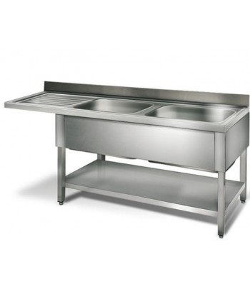 Table de plonge inox 2,0 m...