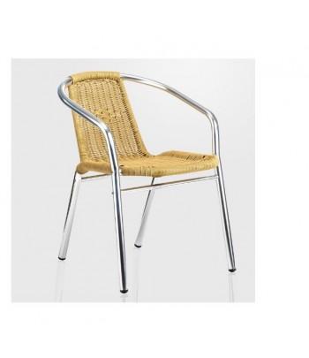 Chaise de terrasse en rotin...